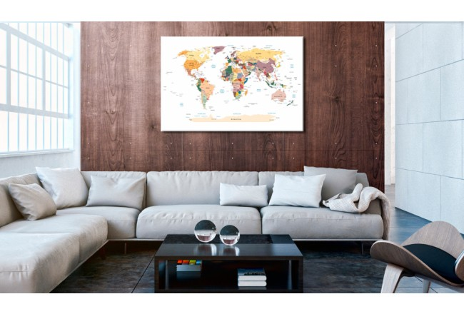 Quadro World Map [Cork Map] 92158 additionalImage 2