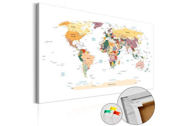 Quadro World Map [Cork Map] 92158