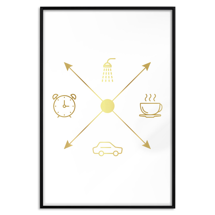 Daily Schedule [Deco Poster - Gold]