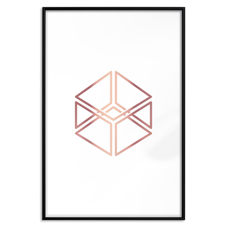 Cube [Deco Poster - Rose Gold]