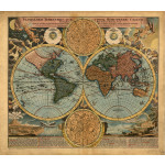 Photo Wallpaper World - cartographic projection 96878 additionalThumb 1