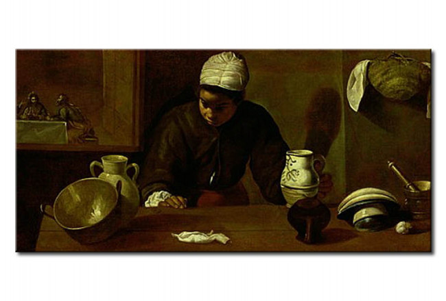 Quadro famoso Kitchen Maid with the Supper at Emmaus 110488