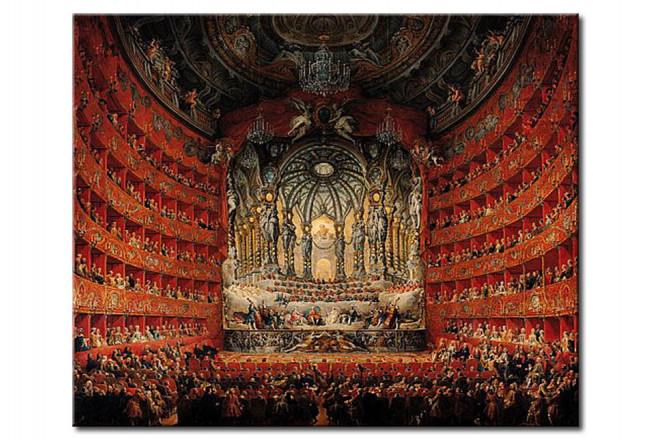 Riproduzione Concert given by Cardinal de La Rochefoucauld at the Argentina Theatre in Rome, on the Marriage of Louis the Dauphin 112488