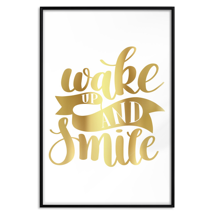 Wake up and Smile [Deco Poster - Gold]