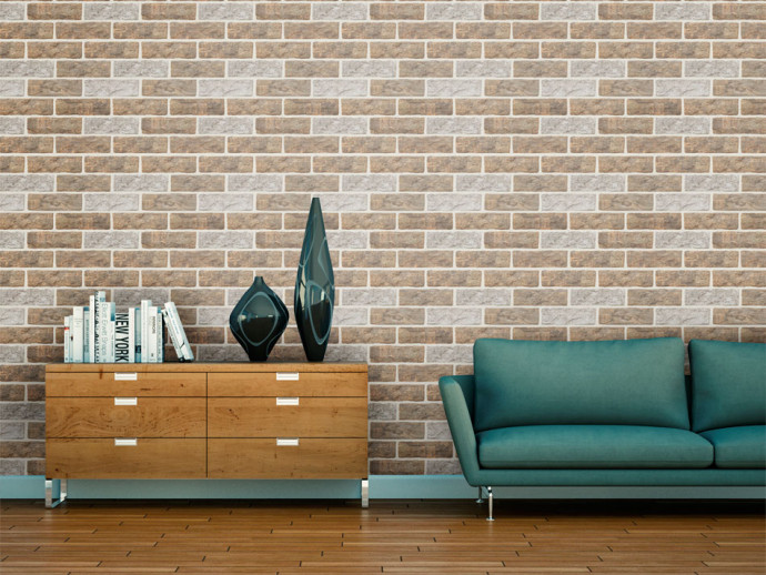 Modern Wallpaper Puzzle with bricks 93198