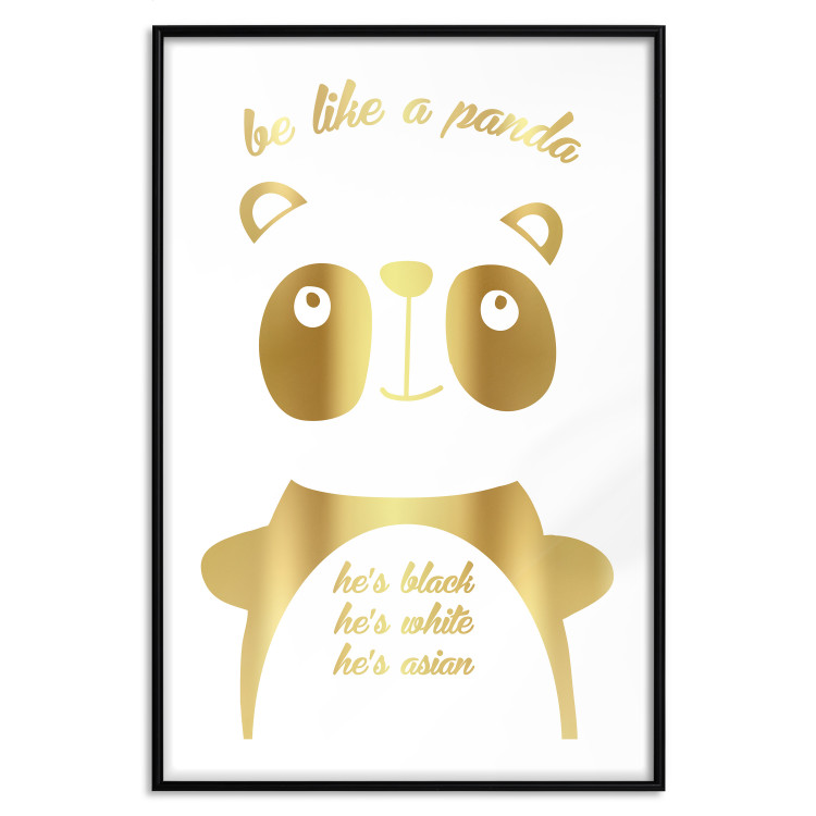 Be Like a Panda [Deco Poster - Gold]