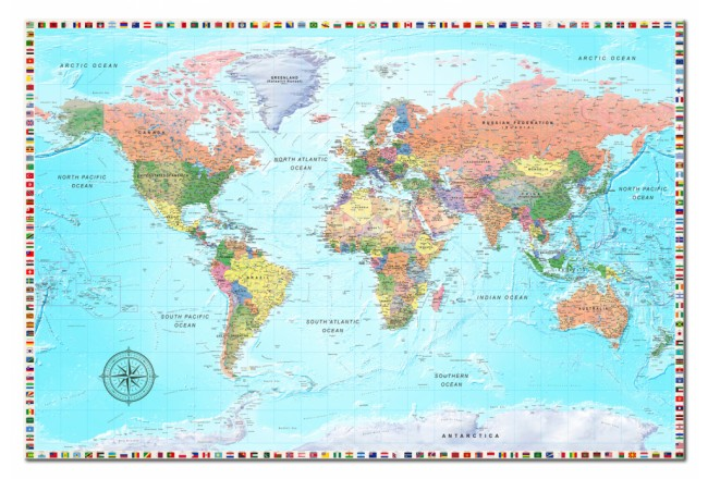 Maps: The World of Diversity [Cork Map] 98009 additionalImage 1