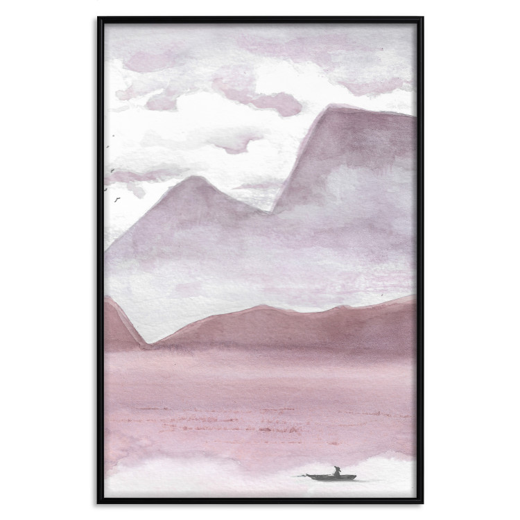 Mountains and a Boat [Poster]