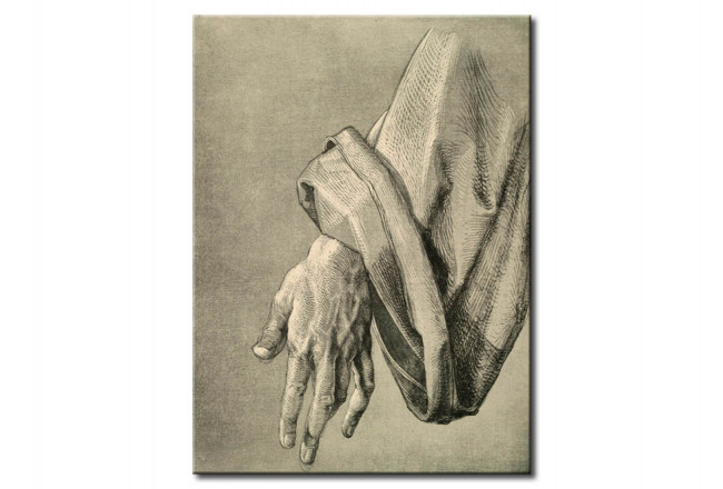 Riproduzione Study of the left hand of an apostle 113529