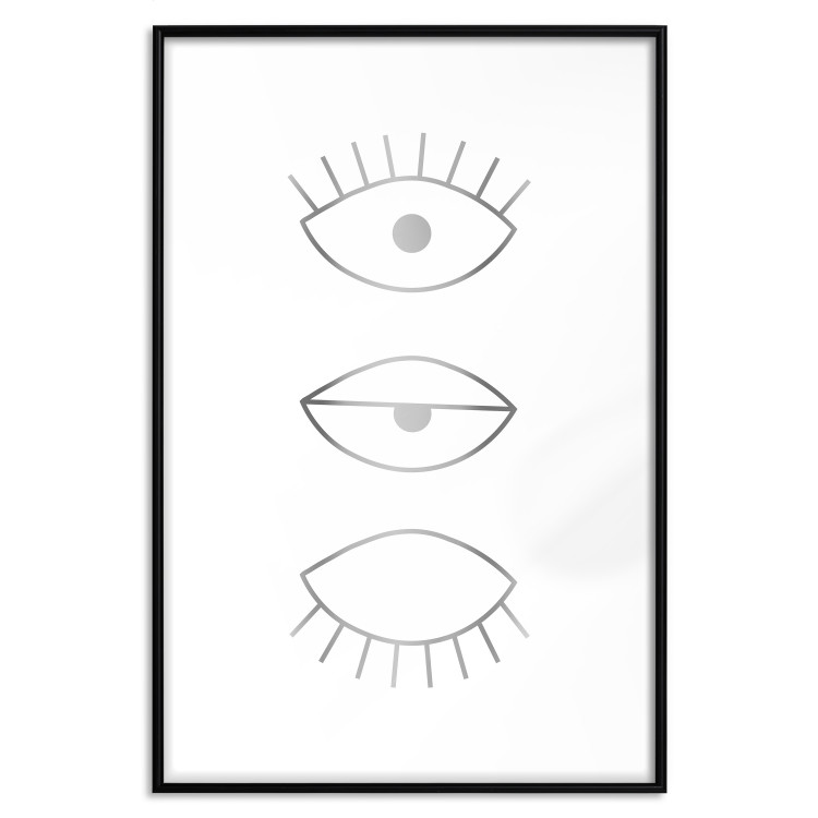 In the Blink of an Eye [Deco Poster - Silver]
