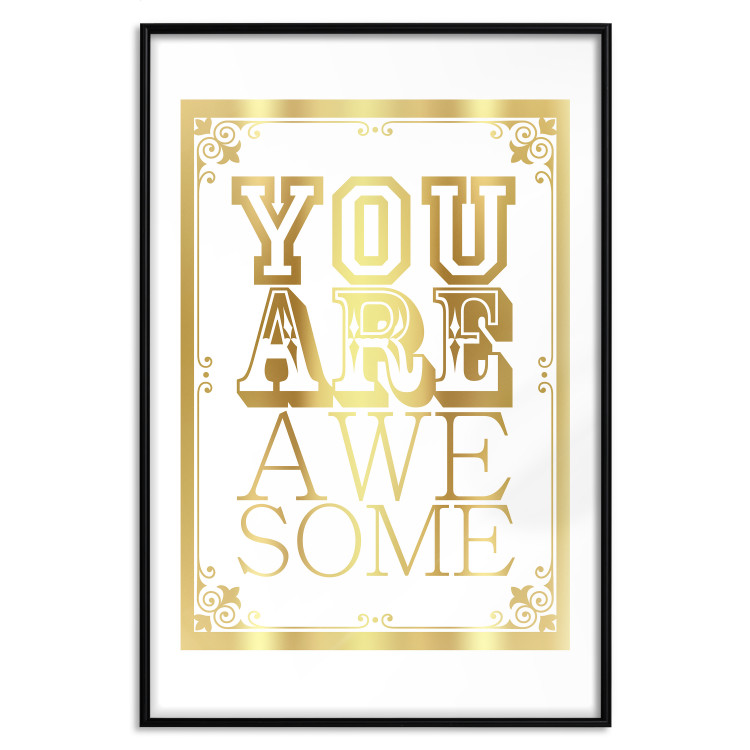 You Are Awesome [Deco Poster - Gold]