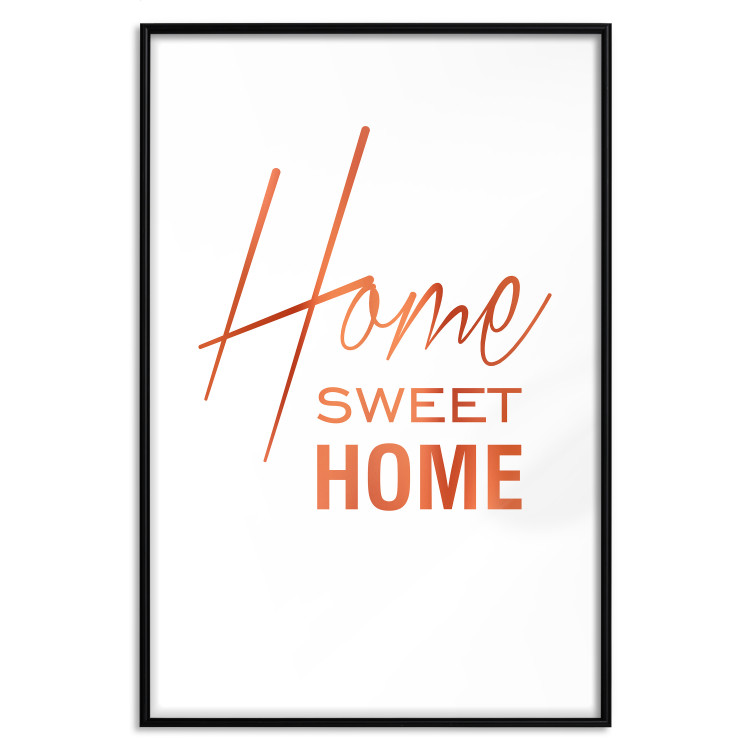 Black and White: Home Sweet Home [Deco Poster - Copper]