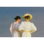 Kunstkopie Summer Evening on the Skagen Southern Beach with Anna Ancher and Marie Kroyer 52929 additionalThumb 1