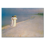 Kunstkopie Summer Evening on the Skagen Southern Beach with Anna Ancher and Marie Kroyer 52929