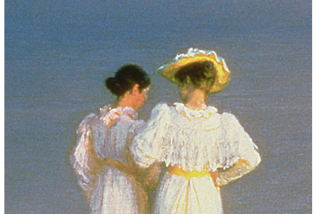 Kunstkopie Summer Evening on the Skagen Southern Beach with Anna Ancher and Marie Kroyer 52929 additionalImage 1