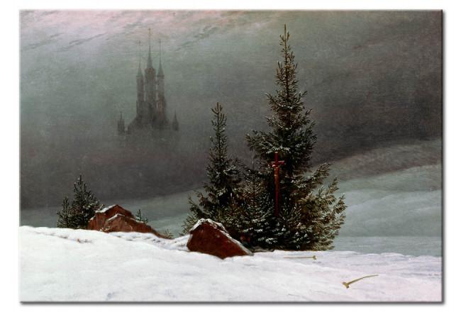 Riproduzione Paesaggio invernale