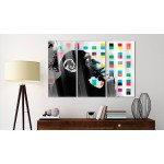 Acrylic print The Thinker Monkey by Banksy [Glass] 94329 additionalThumb 2