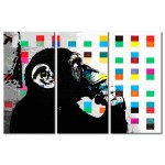 Acrylic print The Thinker Monkey by Banksy [Glass] 94329 additionalThumb 1