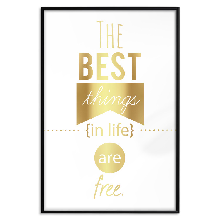 The Best Things in Life Are Free [Deco Poster - Gold]