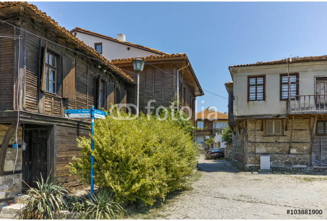 Street and old houses in Sozopol Town, Burgas Region, Bulgaria 64239
