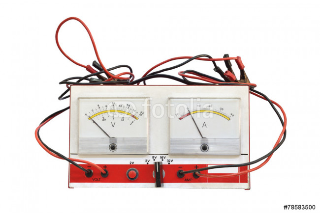 voltmeter isolated on a white background 64239