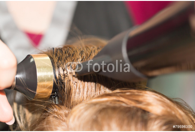 Painting styling hair dryer in a beauty salon 64239