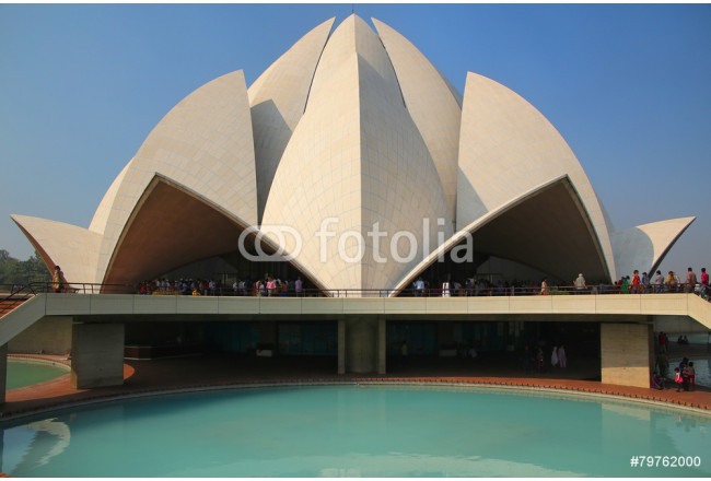 Lotus temple in New Delhi, India 64239
