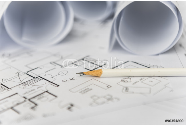 white pencil on architectural for construction drawings 64239