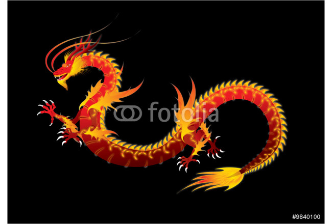 Art painting Red Dragon 64239