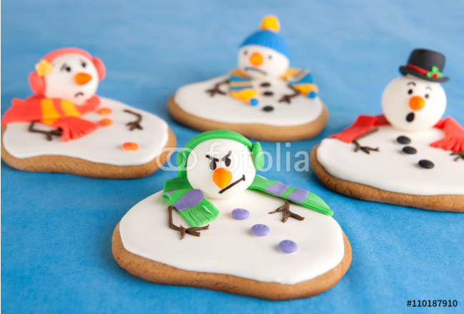 Melted snowman cookies 64239