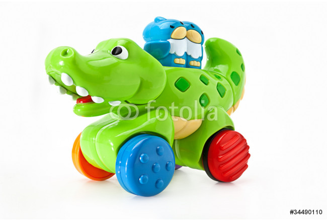 An aligator and owl children's toy on wheels 64239