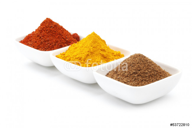 Variety of Raw Authentic Indian Spice Powder 64239