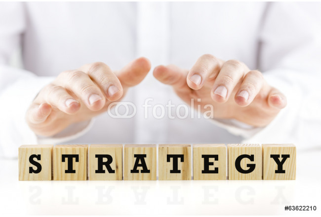 Conceptual image with the word Strategy 64239