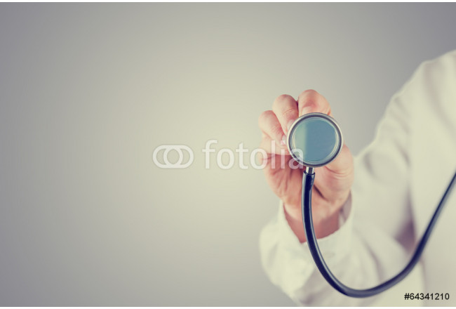 Cuadro decorativo Retro image of a doctor with a stethoscope 64239