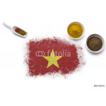 Spices forming the flag of Vietnam.(series) 64239