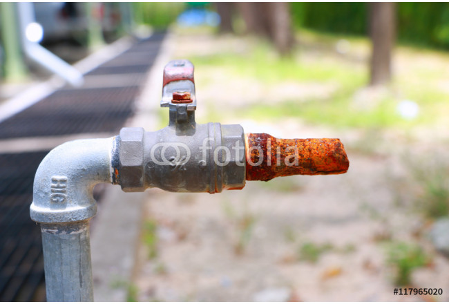 Rust on the faucet water 64239
