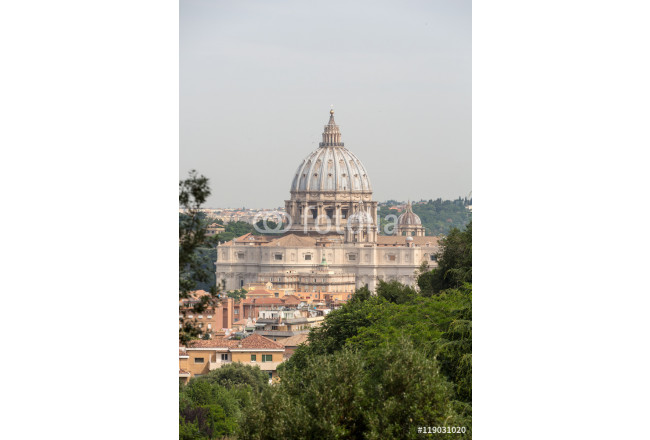 A view of St. Peter's Basilica taken from the Janiculum Hill. Rome - Italy 64239