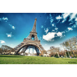 Paris, France. Wonderful view of Tour Eiffel with gardens and co 64239