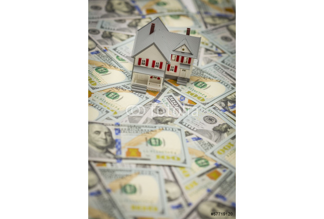 Small House on Newly Designed One Hundred Dollar Bills 64239