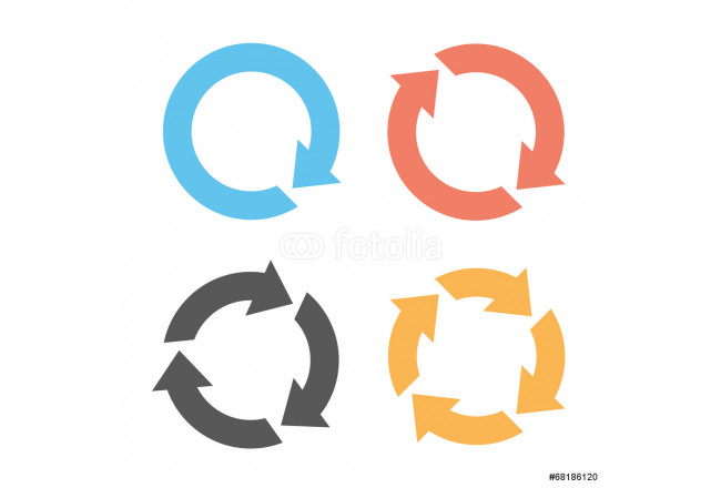 Painting Four arrow reload icons 64239