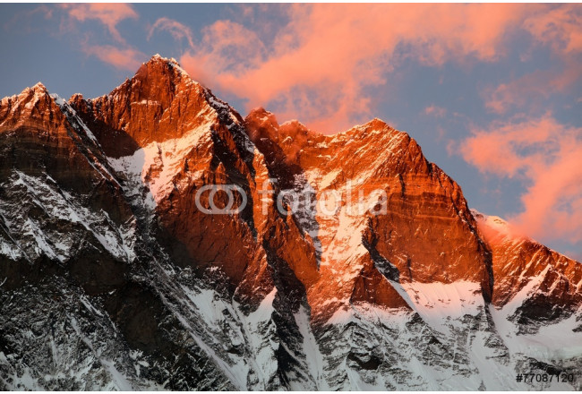 evening view of Lhotse and clouds on the top 64239