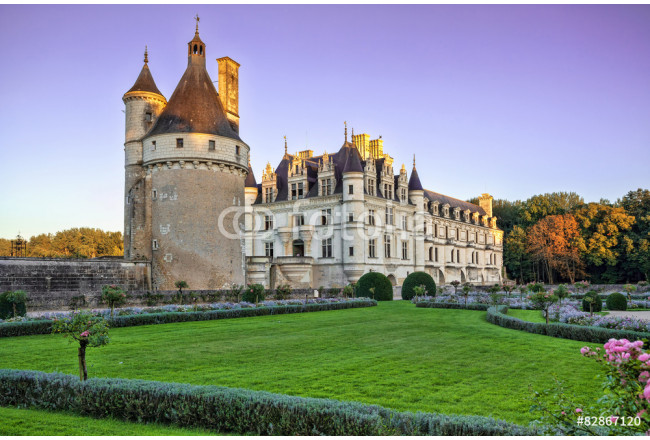 The Chateau de Chenonceau. France. Chateau of the Loire Valley. 64239