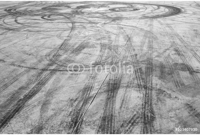Tire marks on road track 64239