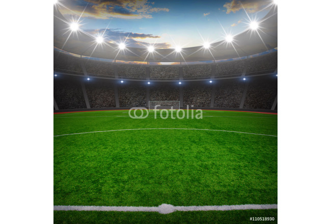 Obraz nowoczesny soccer stadium with the bright lights 64239