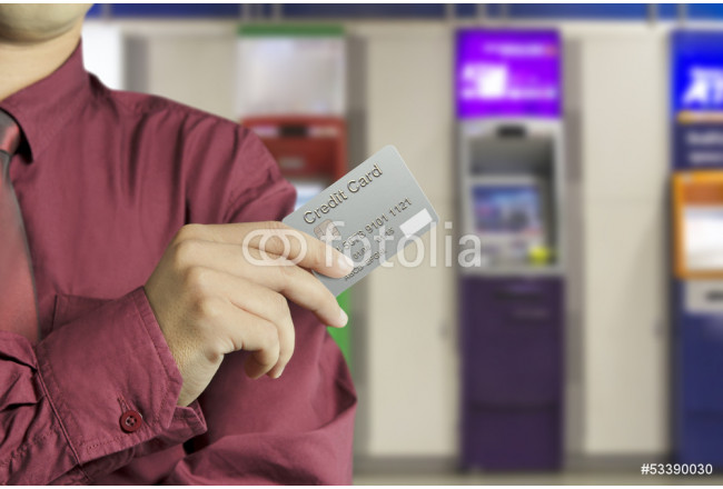 Cropped view of Businessman hand holding credit card 64239