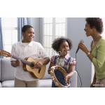 African American mother and children playing instruments 64239