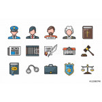 Law and justice icons set,eps10 64239