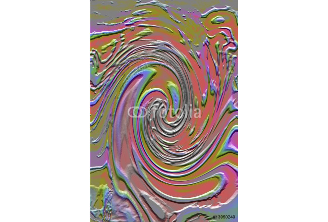 Multi-coloured swirling abstract 64239