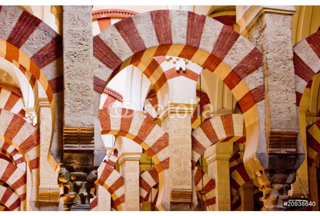 interior of Mosque-Cathedral, Cordoba, Andalusia, Spain 64239
