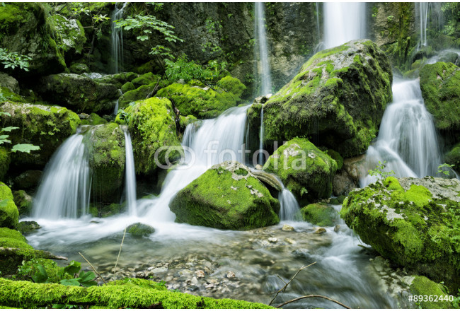 Waterfall in the forest 64239
